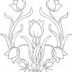 דף צביעה פרחים 75