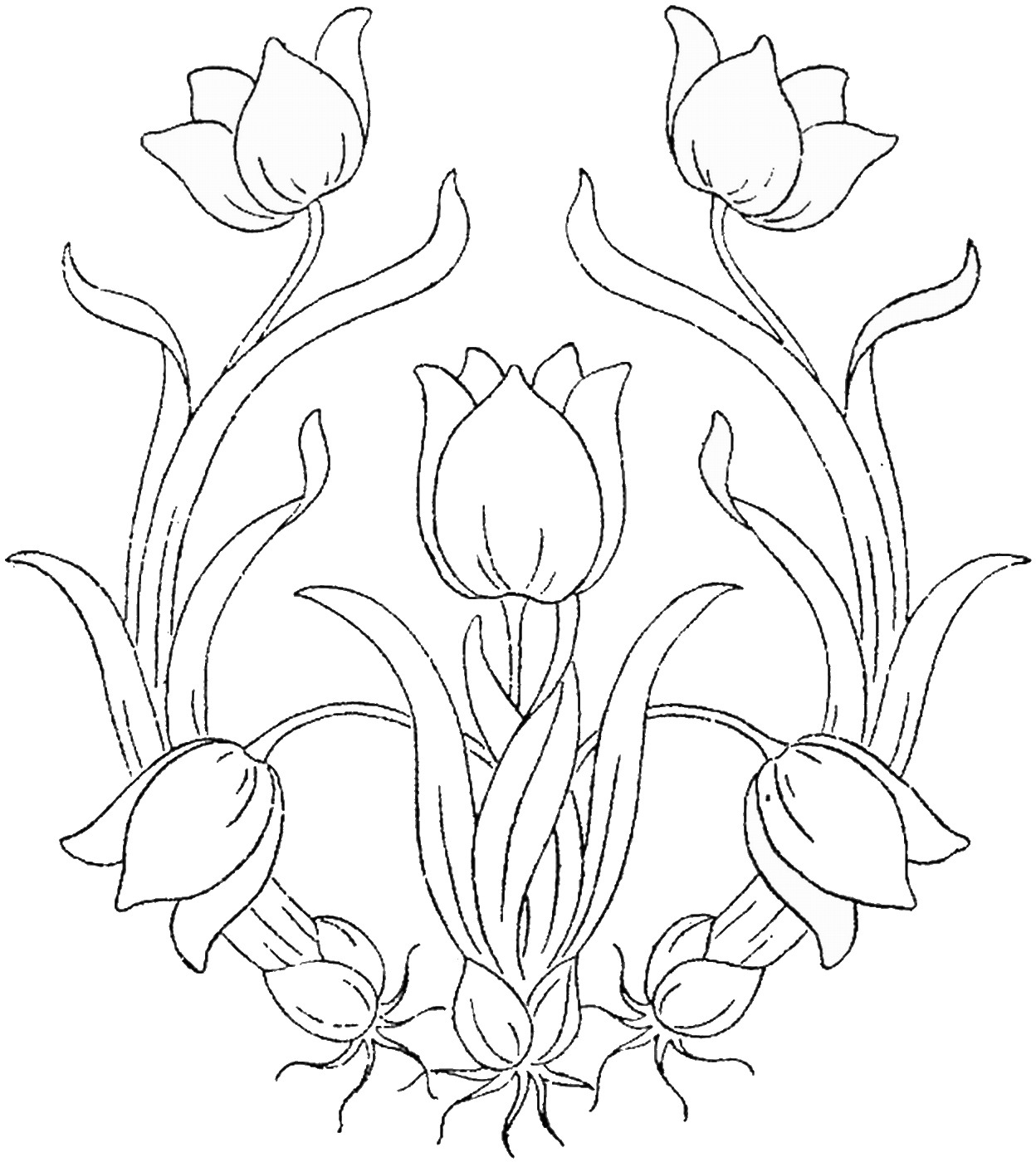 for Flower crown coloring page