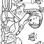 דף צביעה פרחים 73