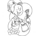 דף צביעה פרחים 72