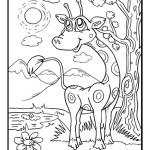 דף צביעה ג'ירפה 5
