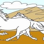 סוסים דפי צביעה
