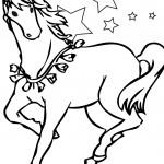 דף צביעה סוס 9