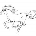 דף צביעה סוס 8