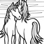 דף צביעה סוס 1