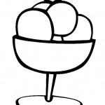 דף צביעה גביע גלידה 5