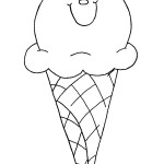דף צביעה גביע גלידה חייכני