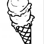 דף צביעה גביע גלידה 1