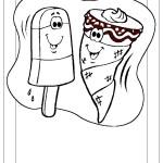 דף צביעה גביע גלידה וארטיק נפגשים