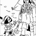 אבא אינדיאני משוחח עם בנו