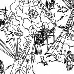 דף צביעה במחנה האינדיאנים