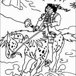 אינדיאני רוכב על סוס ששוקע בבוץ