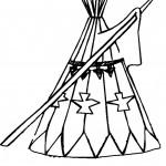 דף צביעה אוהל אינדיאני 1