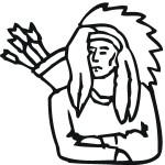 דף צביעה אינדיאני עם נושא קשתות