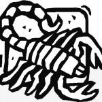 דף צביעה עקרב