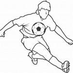 דף צביעה בעיטה בכדור 14