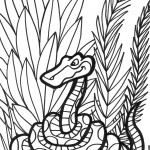 דף צביעה נחש מסתתר בג'ונגל 1