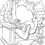 דף צביעה ארתור ומוגלי בשעת מנוחה