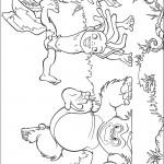 דף צביעה ספר הג'ונגל 1
