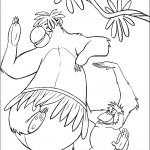דף צביעה הקופים פלנקי והמלך לואי רוקדים