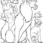 דף צביעה מוגלי, בגירה והזאבה ריקשה