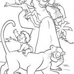 דף צביעה מוגלי וחבריו הטובים