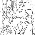 דף צביעה שאנטי ורנג'אן פוגשים את מוגלי