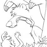 דף צביעה מוגלי נלחם בטיגריס שירחן