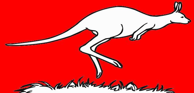 לחצו על דפי הצביעה של הקנגורו להגדלה ולהדפסה