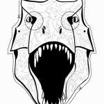דף צביעה מסכת דינוזאור 1