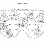 דף צביעה מסכת פרחים