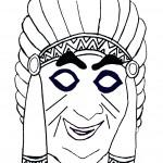 דף צביעה מסכת אינדיאני 1