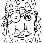 דף צביעה מסכת שודד ים 2