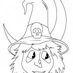 דף צביעה מסכת מכשפה 2