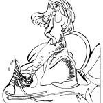 דף צביעה בת הים הקטנה 9