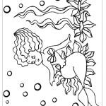 דף צביעה בת הים הקטנה 14