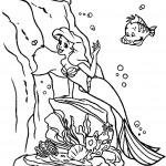 דף צביעה בת הים הקטנה 6