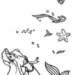 דף צביעה בת הים הקטנה 5