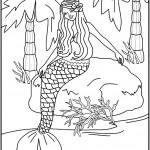 דף צביעה בת הים הקטנה 1