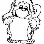 דף צביעה קוף 5