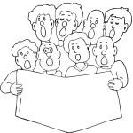 דף צביעה שירת המקהלה