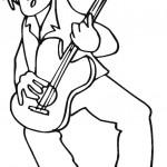 דף צביעה איש מנגן בגיטרה
