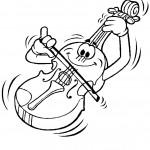 דף צביעה כינור מנגן את עצמו