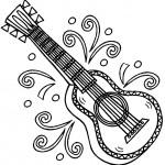 דף צביעה גיטרה 4