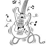 דף צביעה גיטרה 3