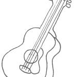 דף צביעה גיטרה 2