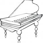 דף צביעה פסנתר 1