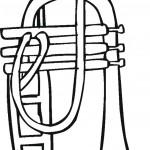 דף צביעה חצוצרה 1