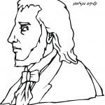 דף צביעה המוזיקאי פליקס מנדלסון