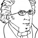 דף צביעה המוזיקאי פרנץ שוברט